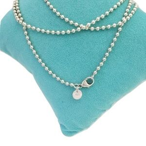 """Tiffany & Co  Bead Chain Ex long 36"""" Necklace"""